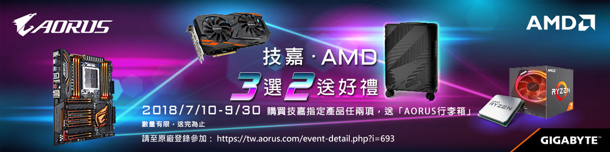 技嘉AMD 3選2