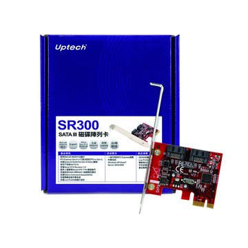 Uptech SR300 SATA III磁碟陣列卡PCI-e
