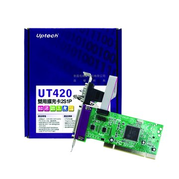 Uptech UT420 2埠RS232 1埠Parallel/PCI