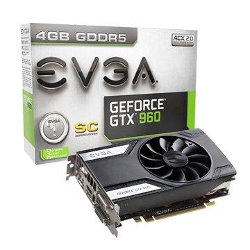 EVGA 艾維克GTX960 4GB SC ACX GDDR5 128顯示卡