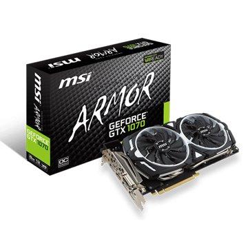 MSI 微星 GeForce GTX 1070 ARMOR 8G OC V1(Gaming虎)