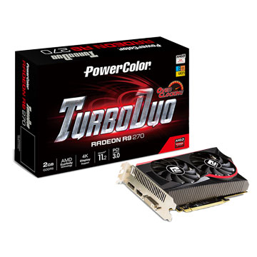 POWERCOLOR 撼訊 TurboDuo R9 270 2GB/GDDR5/OC 顯示卡