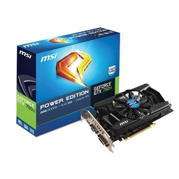 MSI 微星 N750Ti PE 2GD5/OC/DDR5/2G顯示卡