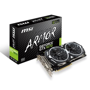 MSI 微星GeForce GTX 1070 ARMOR 8G OC 顯示卡