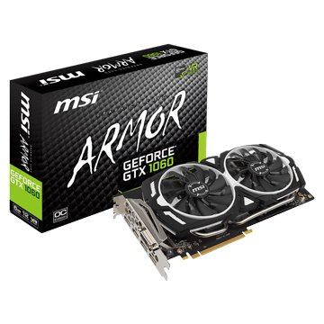 MSI 微星 GeForce GTX 1060 ARMOR 6G OCV1(鎧甲