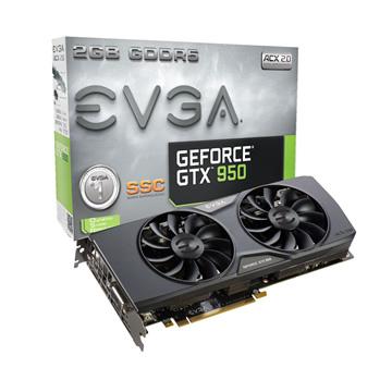 EVGA 艾維克GTX950 2G SSC 2BIOS GDDR5 128顯卡