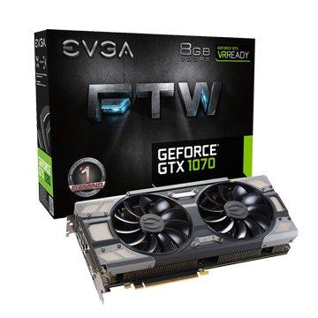 EVGA 艾維克 GTX1070 8GB FTW BP 2BIOS ACX3