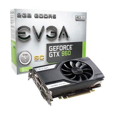 EVGA 艾維克GTX960 2GB SC DDR5 128bit PC 顯卡