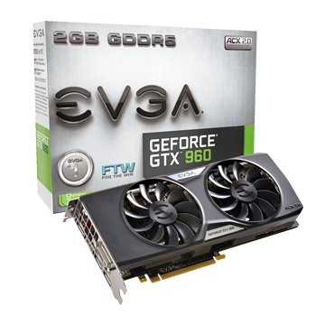 EVGA 艾維克 GTX960 2GB FTW ACX2.0顯示卡