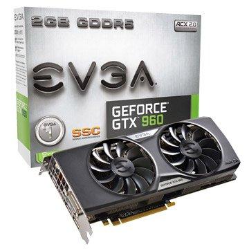 EVGA 艾維克 GTX960 2GB SSC ACX2.0顯示卡