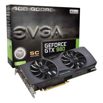 EVGA 艾維克 GTX980 4GB SC ACX2.0 顯示卡