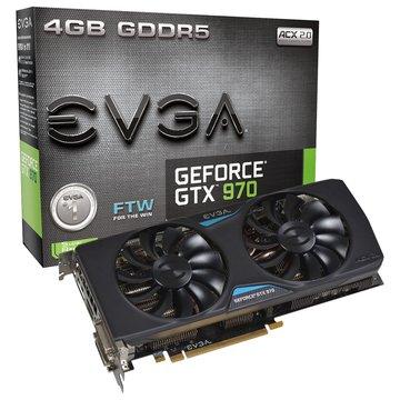 EVGA 艾維克 GTX970 4GB FTW GDDR5 顯示卡