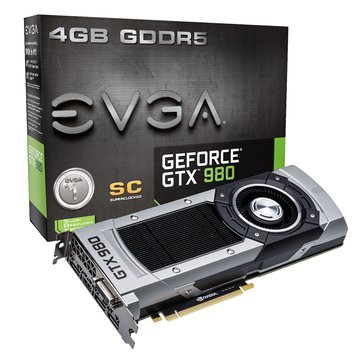 EVGA 艾維克 GTX980 4GB SC GDDR5 顯示卡
