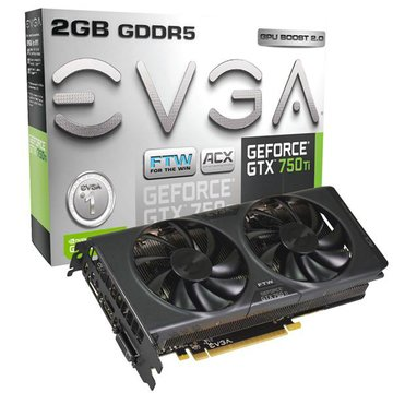 EVGA 艾維克GTX750Ti 2GB FTW+ACX 顯示卡