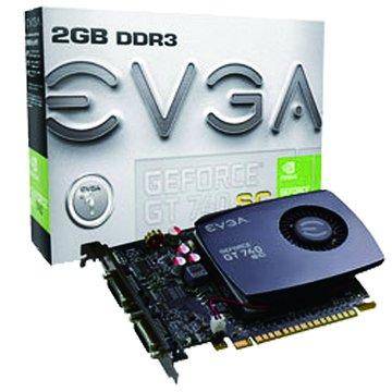 EVGA 艾維克 GT740 2GB SC DDR3 顯示卡