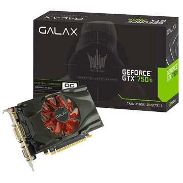 GALAX 影馳 750TI 2G BLACK OC SNIPER LED顯示卡