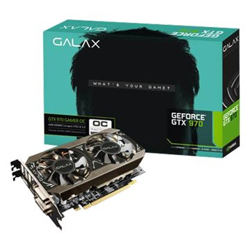 GALAX 影馳 GTX970 OC 4GB DDR5 Black 顯示卡