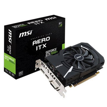 MSI 微星 GeForce GTX 1050 Ti AERO 4G OCV1