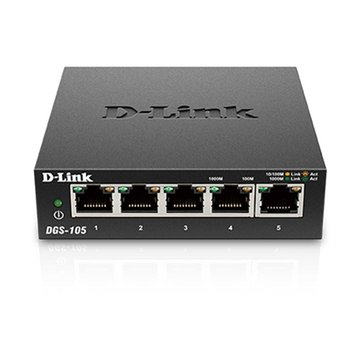 D-LINK DGS-105 5埠Giga SWITCH HUB鐵殼