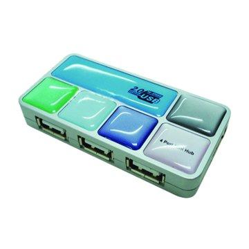 aibo 多彩馬賽克4埠USB2.0 HUB