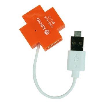 KINYO 金葉HUB-17(橘)4埠USB2.0/OTG HUB