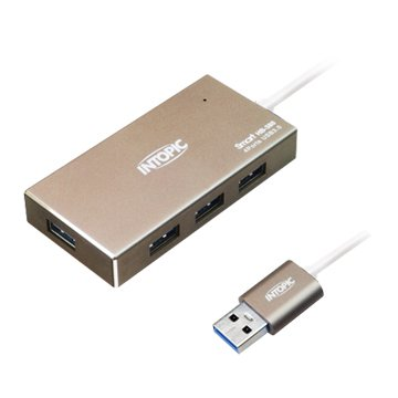 INTOPIC HB-380-GD 鋁合金高速集線器USB3.0