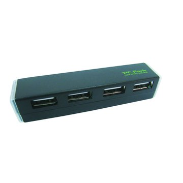 PC Park HU-08 4埠USB2.0 HUB黑