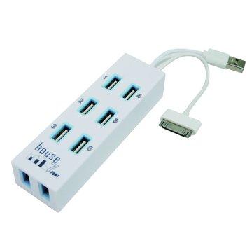 H-19A-W 7埠 USB2.0 HUB白