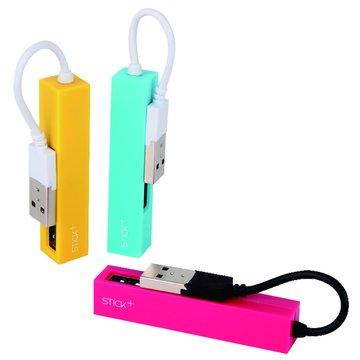 H-35-P 4埠USB2.0 HUB粉紅