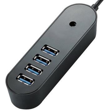 U2-07-B 4埠 USB2.0 HUB黑