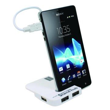iH-17 / OTG 4埠 HUB 手機座 / 白