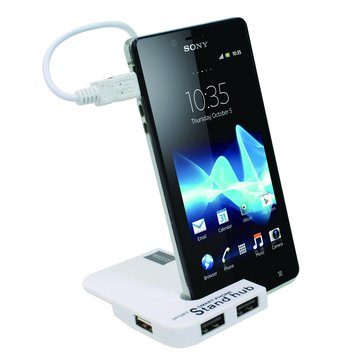 iCooby iH-17 / OTG 4埠 HUB 手機座 / 白