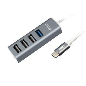 INTOPIC USB3.0 Type-C 高速集線器(灰色) HBC-530