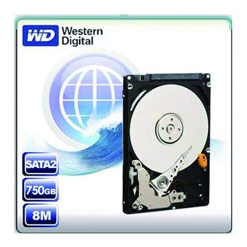 WD 威騰 750GB 2.5吋 8MB 5400轉 SATAII 影音監控硬碟(WD7500BPVT-2Y/P)