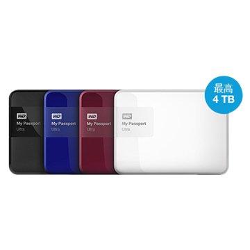 WD 威騰 My Passport Ultra 4TB 2.5吋 外接硬碟-藍