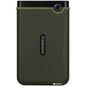 Transcend 創見 StoreJet 25M3 軍規防震 2TB 2.5吋 外接硬碟-軍綠
