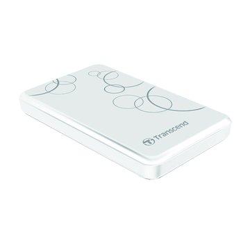 Transcend 創見StoreJet 25A3 防震 1TB 2.5吋 外接硬碟-白