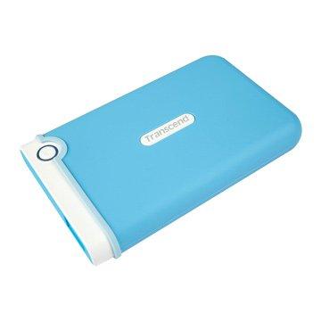 Transcend 創見StoreJet 25M3 軍規防震 2TB 2.5吋 外接硬碟-水漾藍