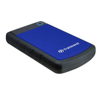 Transcend StoreJet 25H3 軍規防震 4TB 2.5吋 外接硬碟-藍