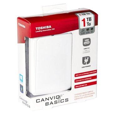 TOSHIBA 東芝Canvio Basics A2 1TB 2.5吋 外接硬碟-白
