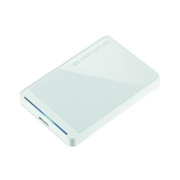 Buffalo 巴比祿 HD-PCTU3 1TB 2.5吋 外接硬碟-鏡面白