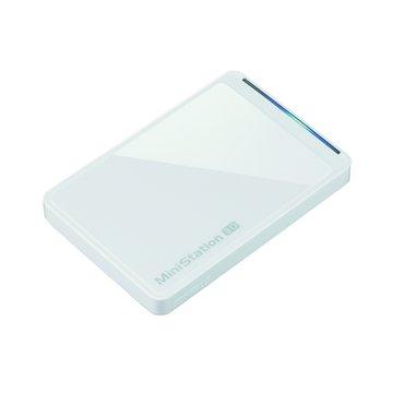 Buffalo 巴比祿 MiniStation PCTU3 500GB 2.5吋 外接硬碟-白