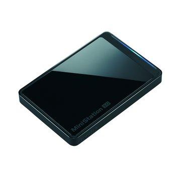 Buffalo 巴比祿 MiniStation PCTU3 500GB 2.5吋 外接硬碟-黑