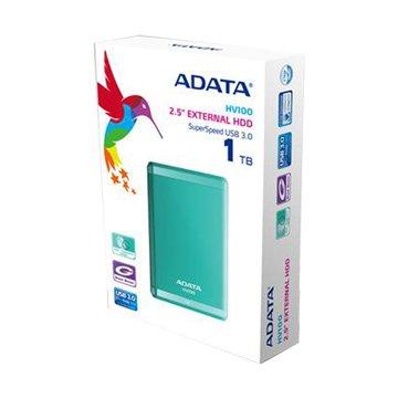 ADATA 威剛HV100 1TB 2.5吋 外接硬碟-藍