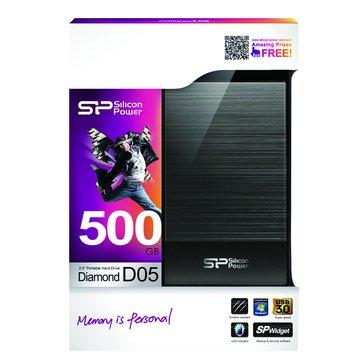 SILICON POWER D05 500GB 2.5吋 外接硬碟-黑