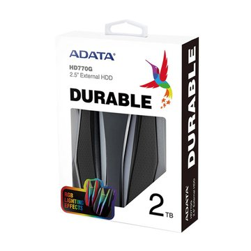 ADATA 威剛2.5' 2TB HD770G RGB(黑)軍規防震行動硬碟