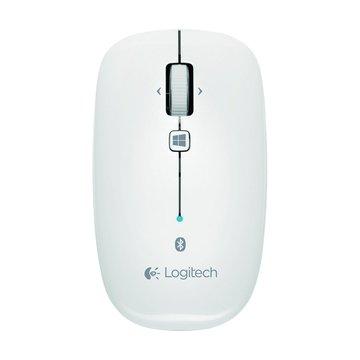 Logitech 羅技M557藍牙滑鼠(珍珠白)