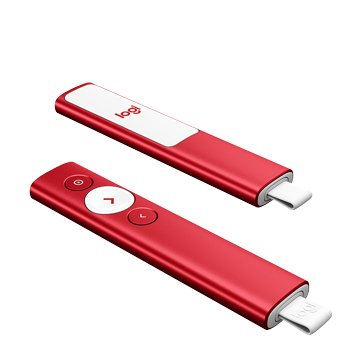 Logitech Spotlight簡報器/藍芽/USB(聖誕紅)