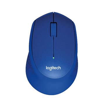 Logitech M331 靜音無線滑鼠/USB(藍)