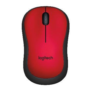 Logitech M221靜音無線滑鼠(紅)